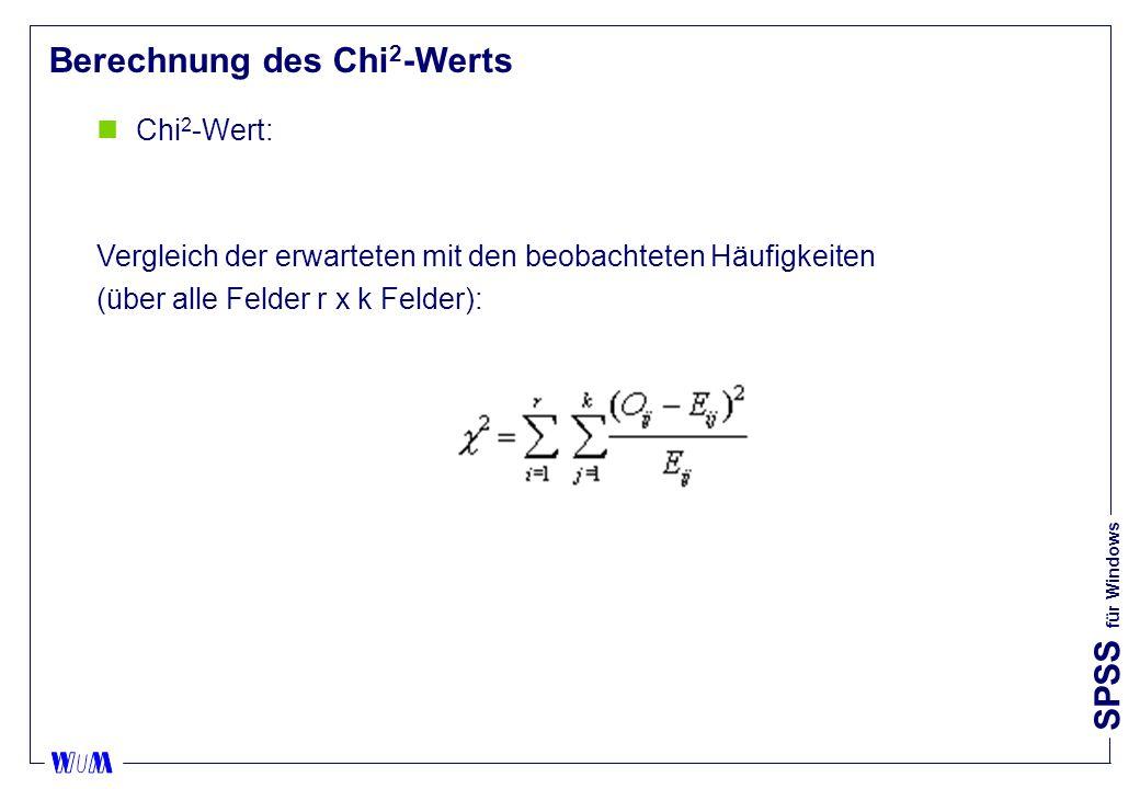 Berechnung des Chi2-Werts