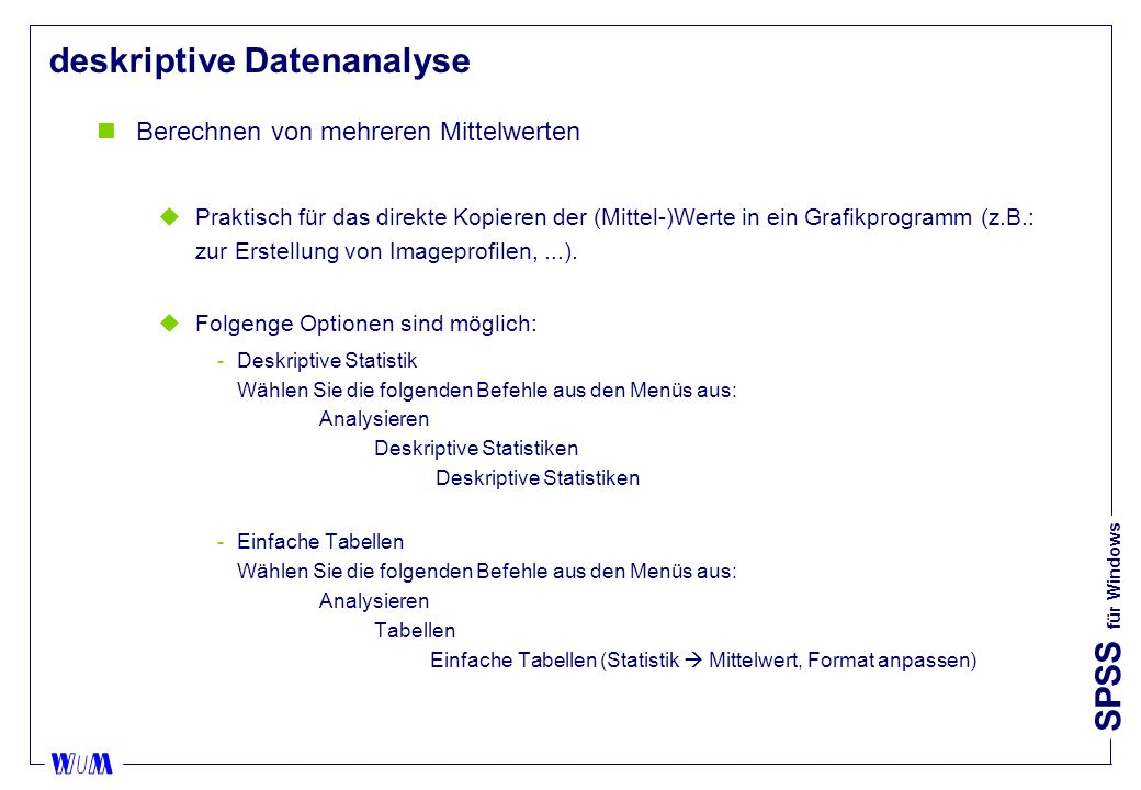 deskriptive Datenanalyse