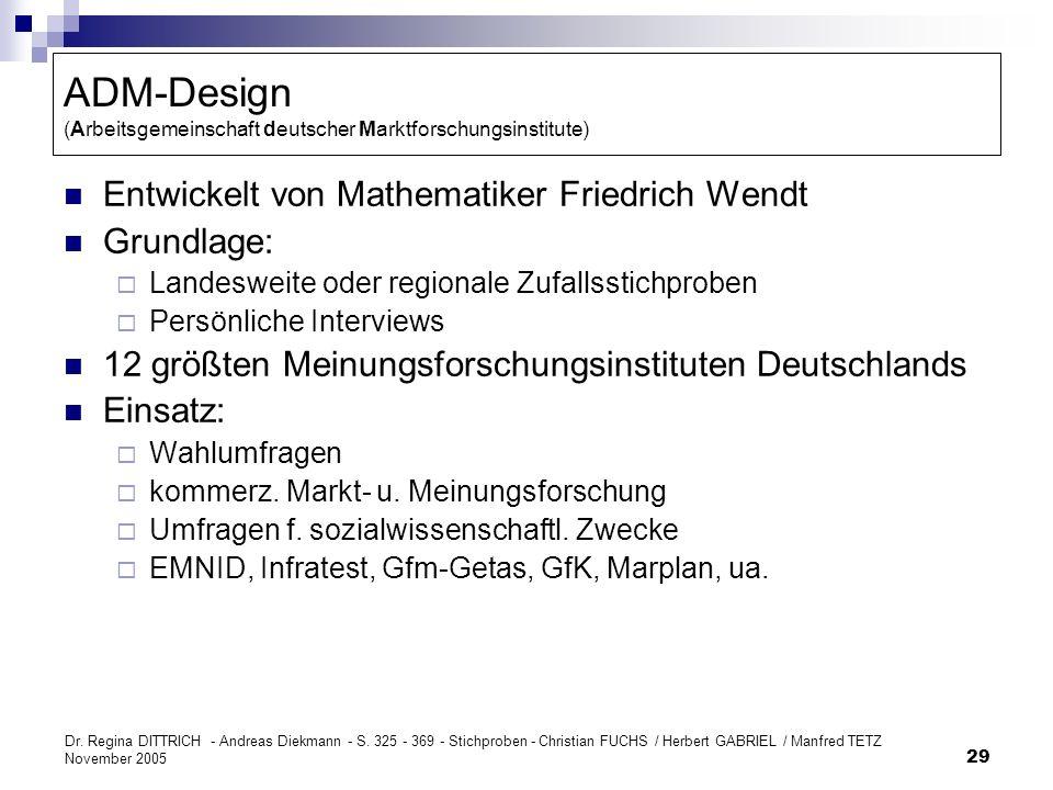 ADM-Design (Arbeitsgemeinschaft deutscher Marktforschungsinstitute)