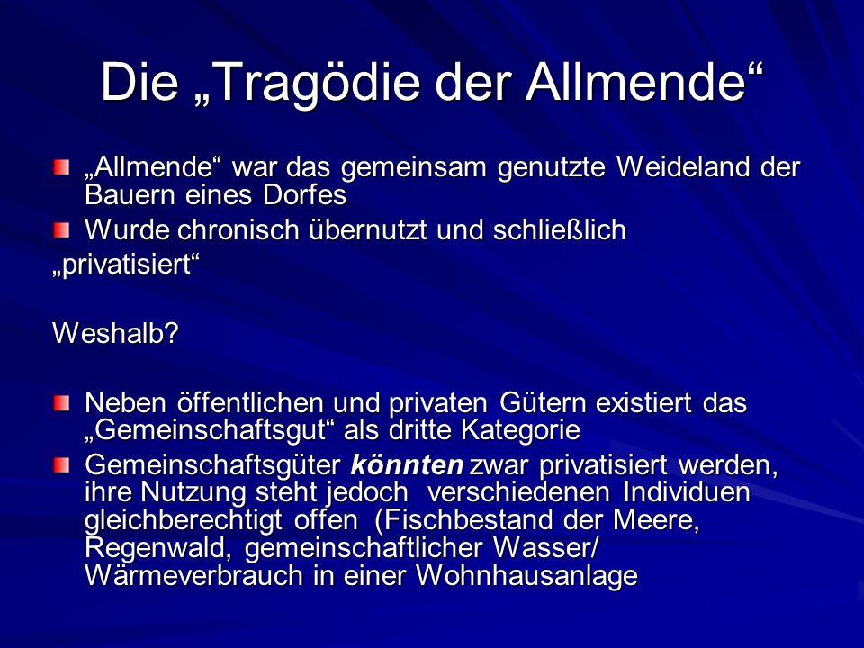 """Die """"Tragödie der Allmende"""
