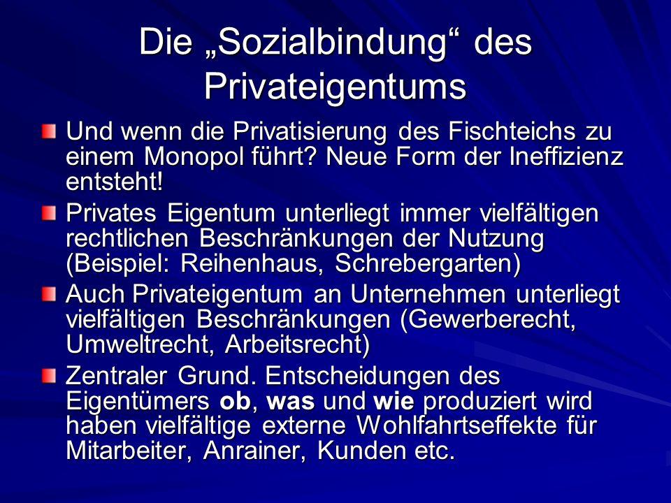 """Die """"Sozialbindung des Privateigentums"""