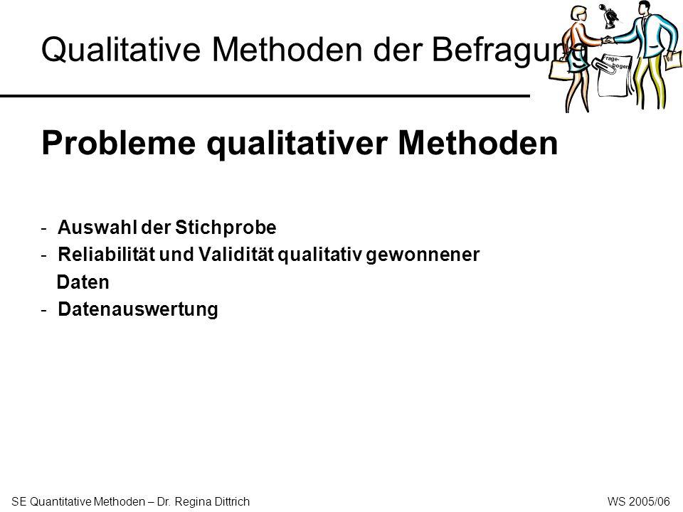 Qualitative Methoden der Befragung