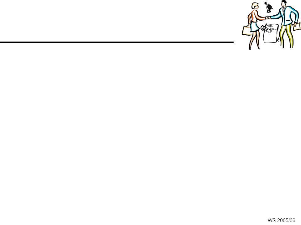 Frage- bogen WS 2005/06