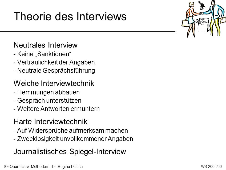 Theorie des Interviews