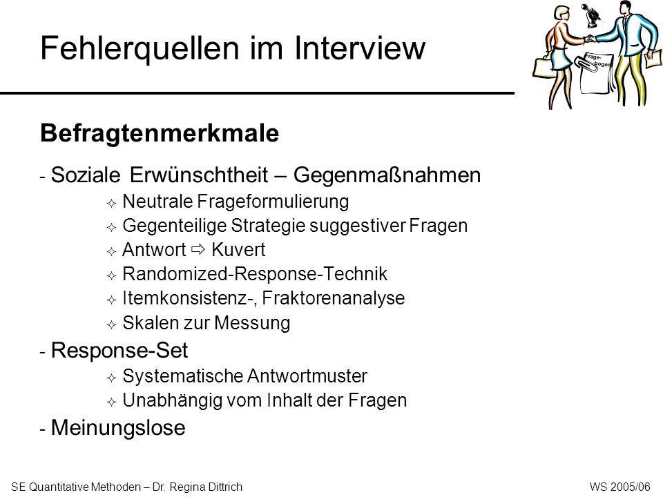Fehlerquellen im Interview