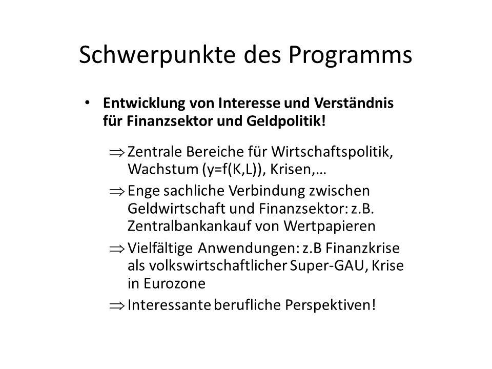 Schwerpunkte des Programms
