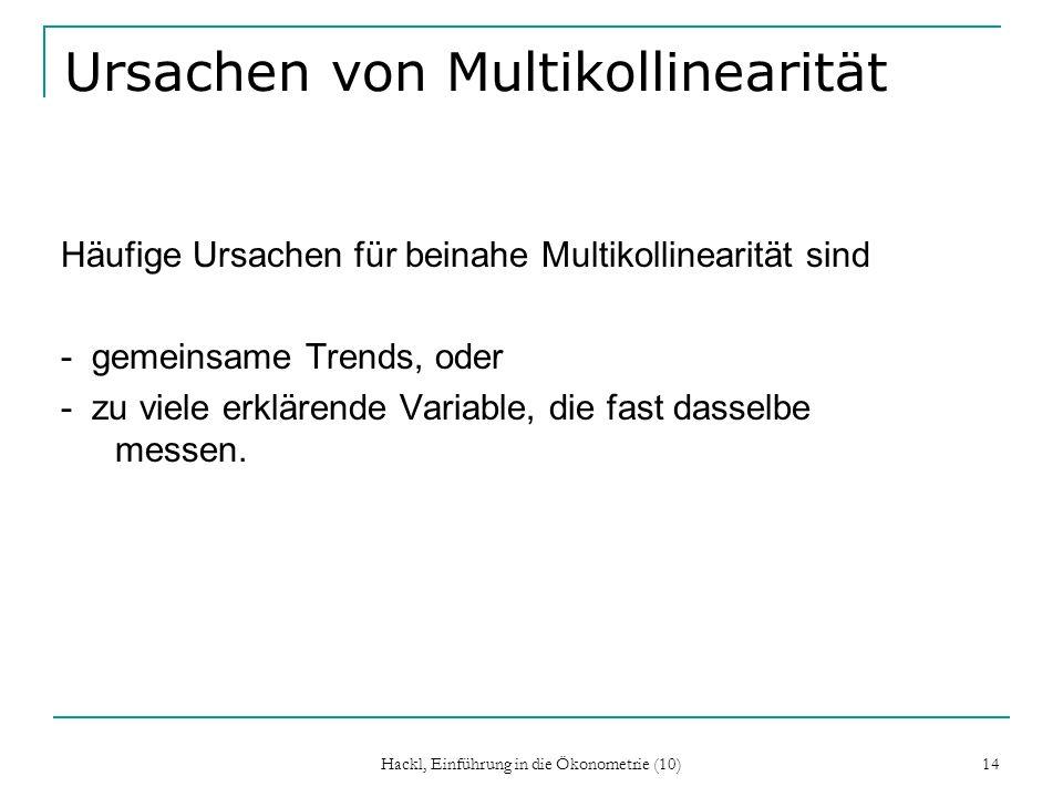 Ursachen von Multikollinearität