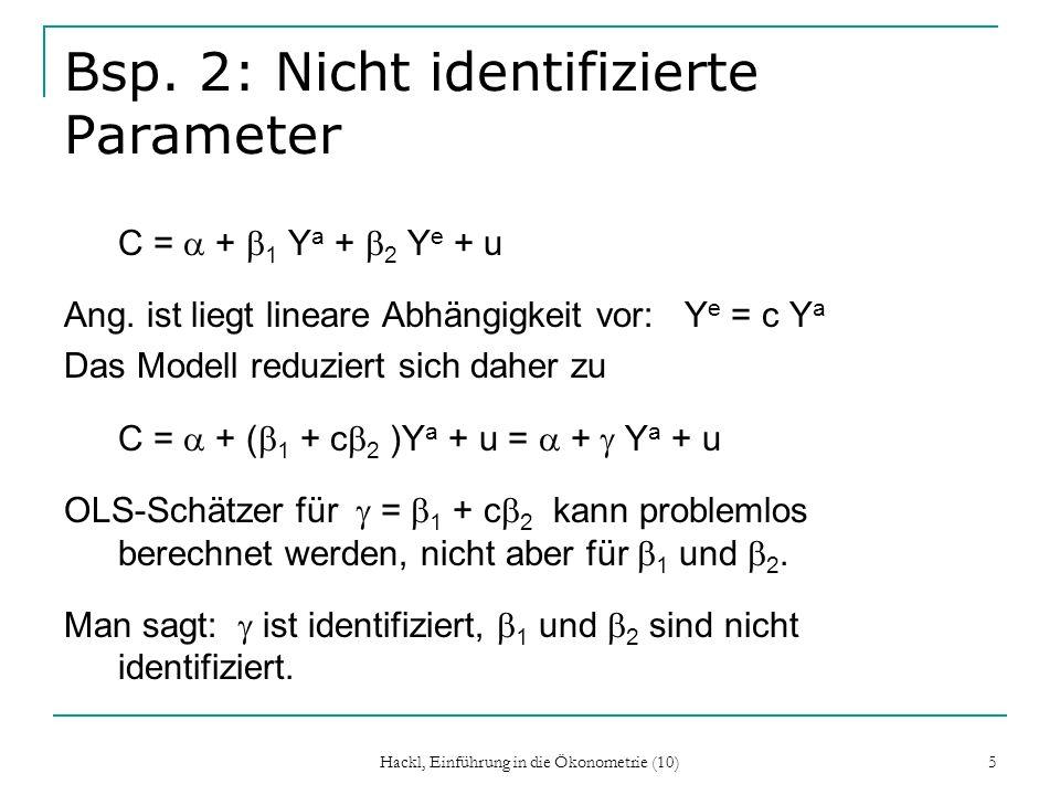 Bsp. 2: Nicht identifizierte Parameter