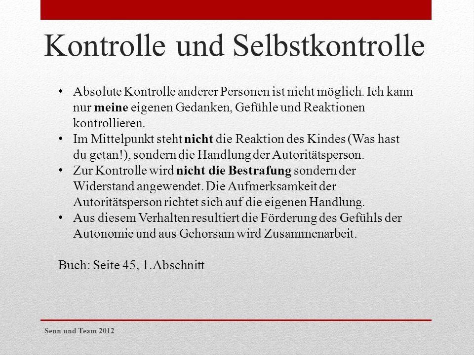 Kontrolle und Selbstkontrolle