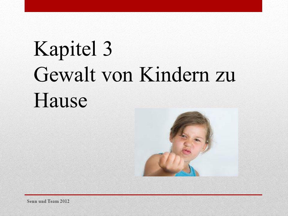 Gewalt von Kindern zu Hause
