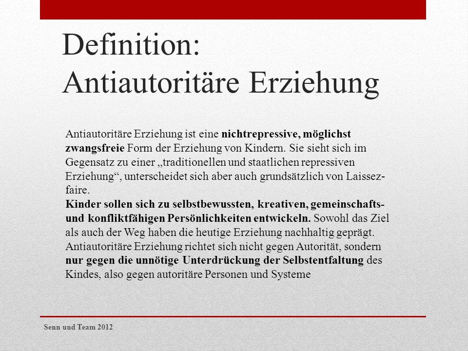 Definition: Antiautoritäre Erziehung