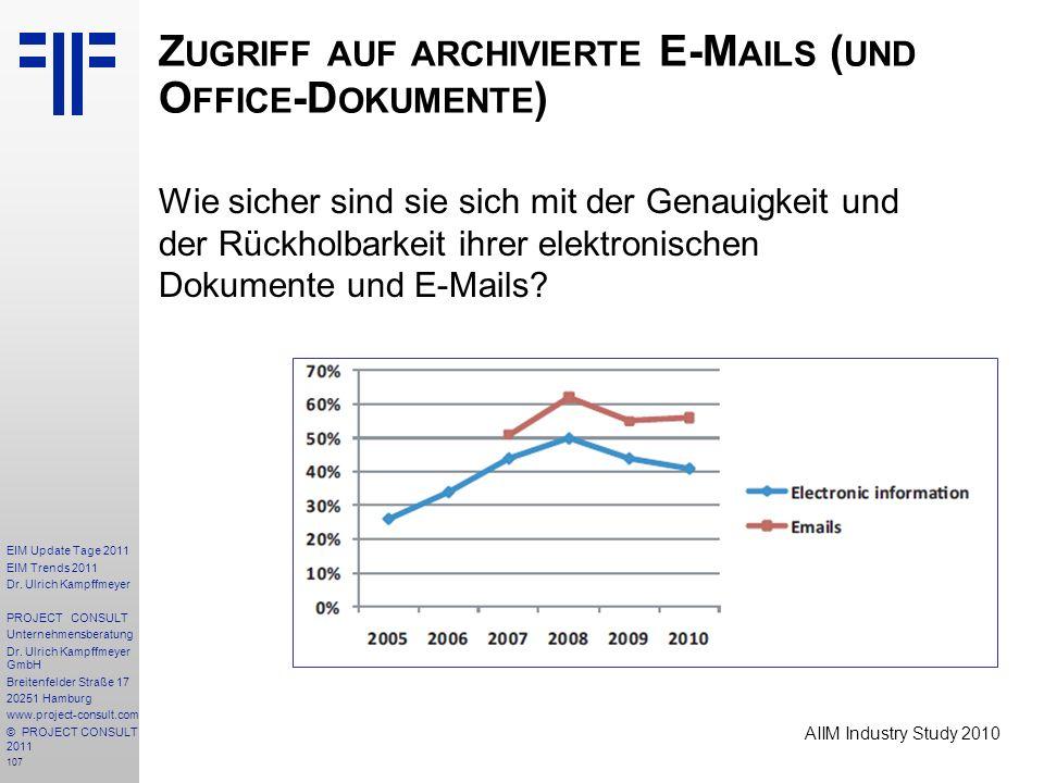 Zugriff auf archivierte E-Mails (und Office-Dokumente)