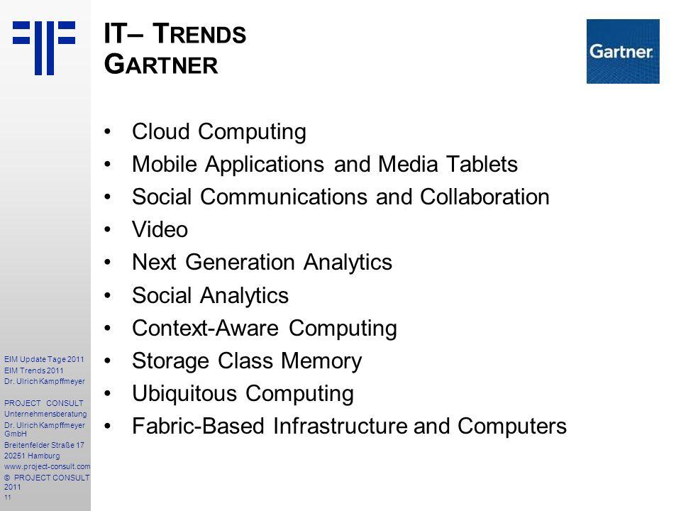 IT– Trends Gartner Cloud Computing