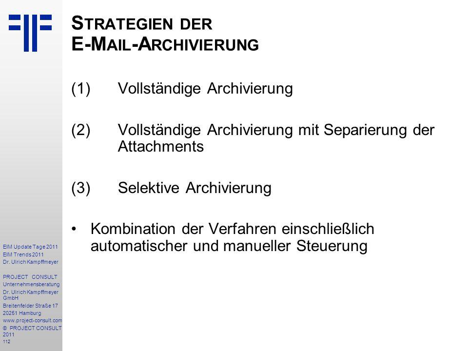 Strategien der E-Mail-Archivierung