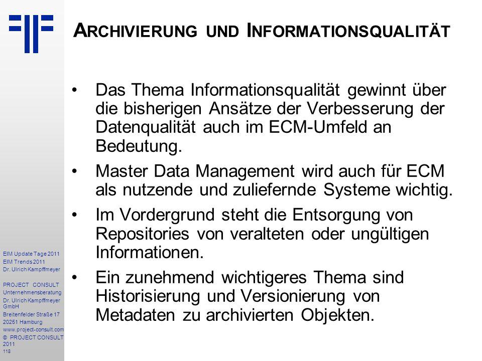 Archivierung und Informationsqualität