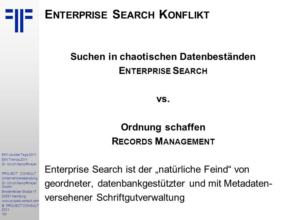 Enterprise Search Konflikt