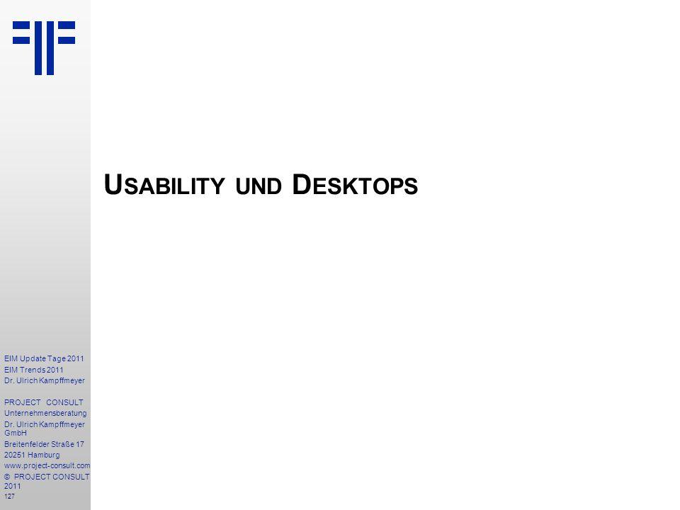 Usability und Desktops