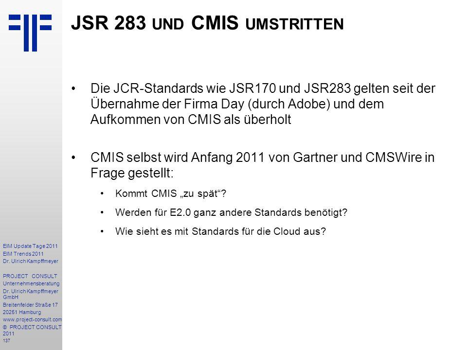 JSR 283 und CMIS umstritten