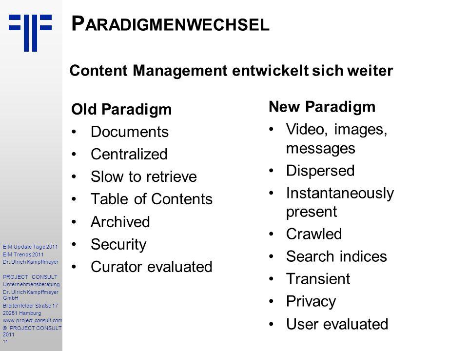 Paradigmenwechsel Content Management entwickelt sich weiter