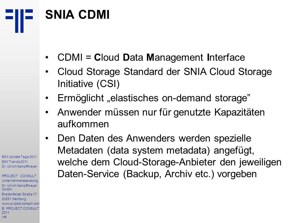 SNIA CDMI CDMI = Cloud Data Management Interface