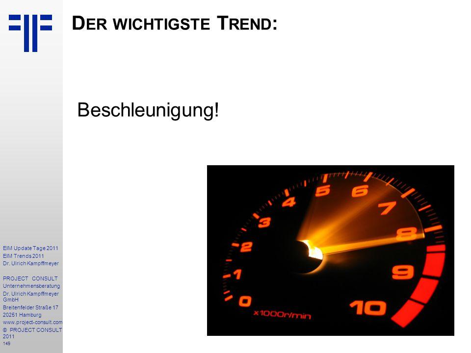 Der wichtigste Trend: Beschleunigung!