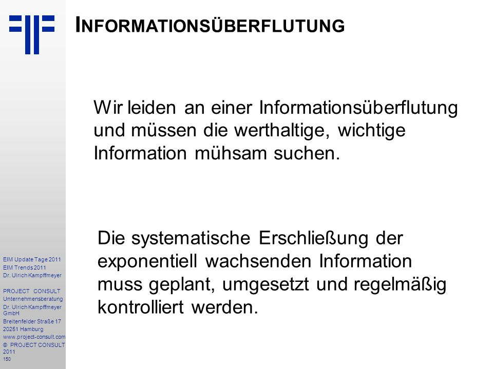 Informationsüberflutung