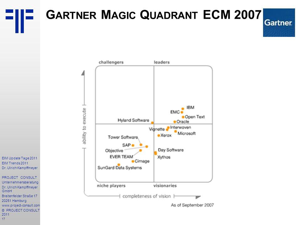 Gartner Magic Quadrant ECM 2007