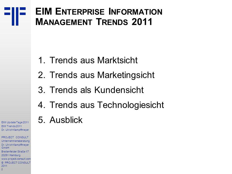 EIM Enterprise Information Management Trends 2011