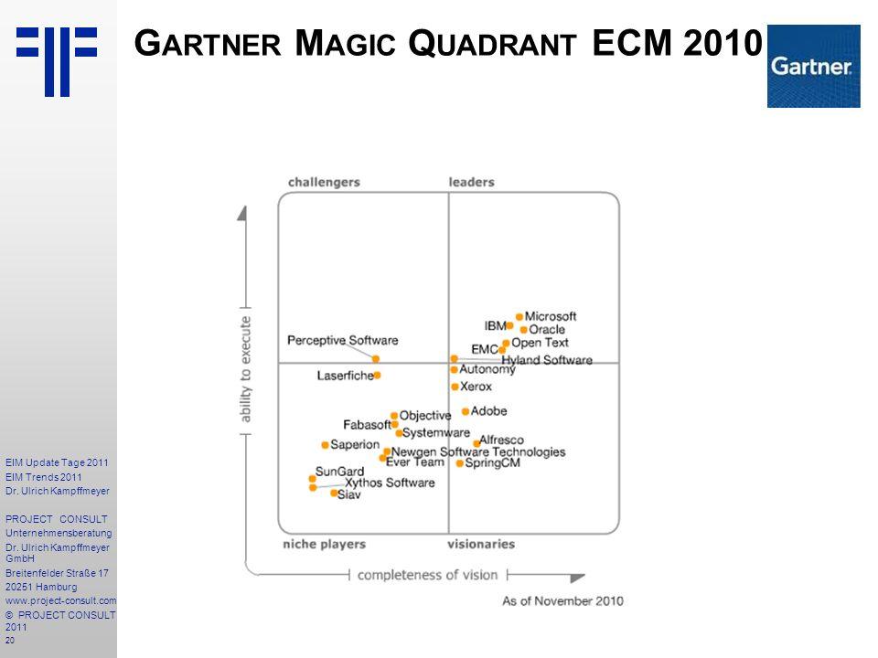 Gartner Magic Quadrant ECM 2010