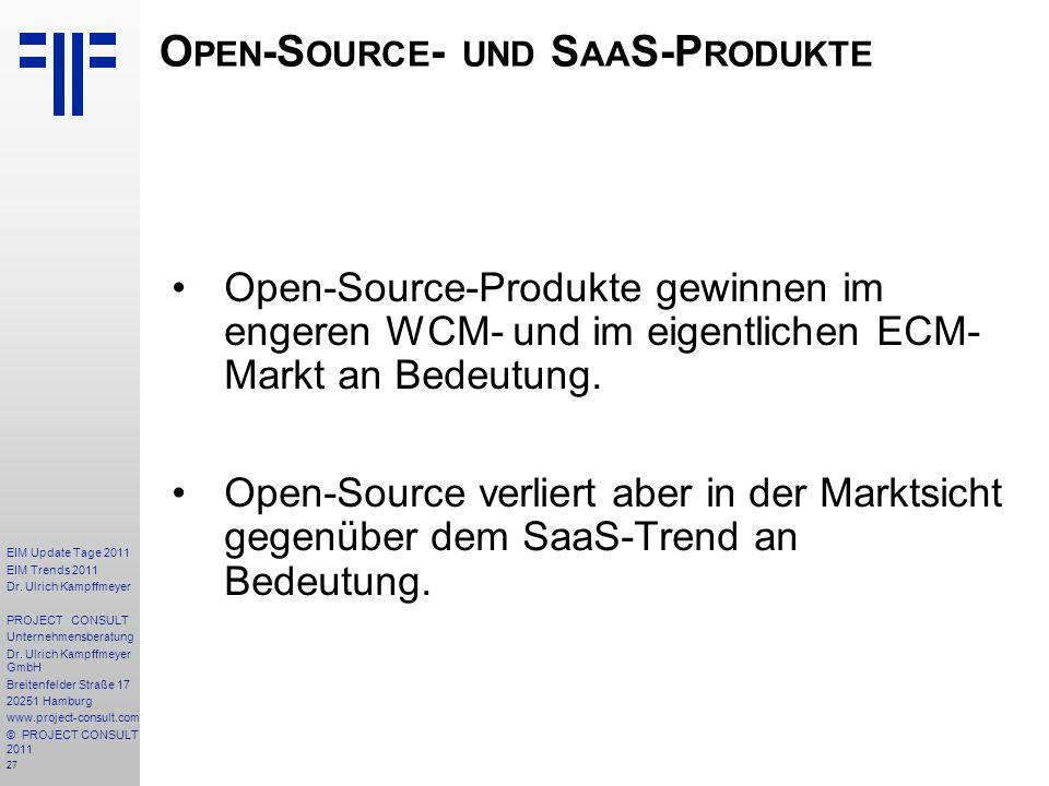 Open-Source- und SaaS-Produkte