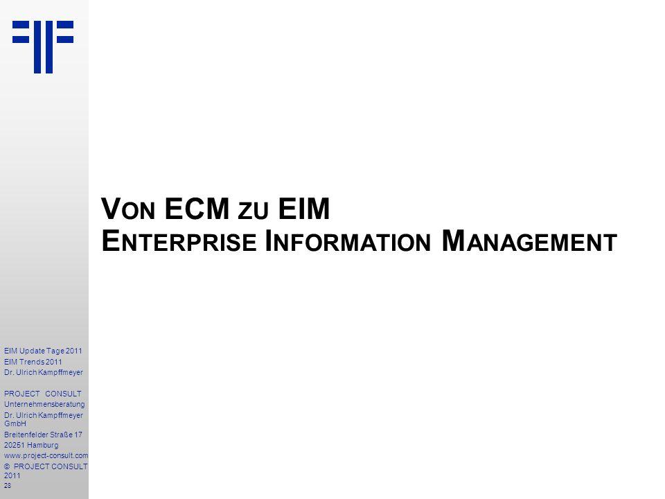 Von ECM zu EIM Enterprise Information Management