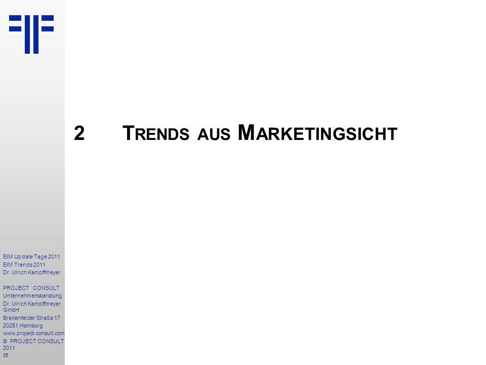 2 Trends aus Marketingsicht