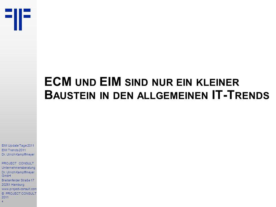 ECM und EIM sind nur ein kleiner Baustein in den allgemeinen IT-Trends