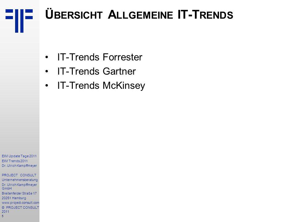 Übersicht Allgemeine IT-Trends