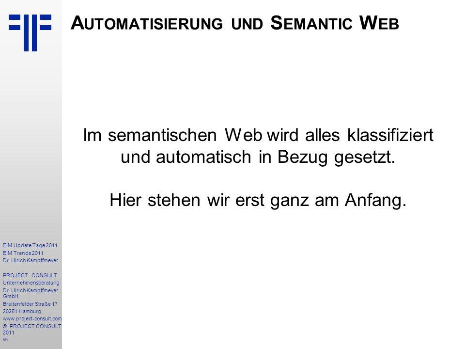 Automatisierung und Semantic Web