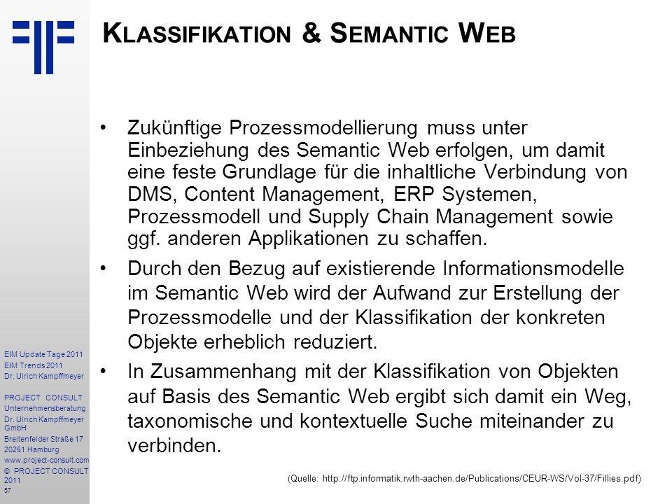Klassifikation & Semantic Web