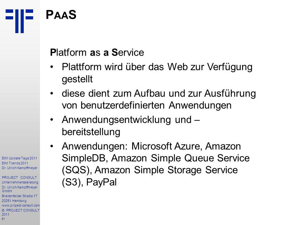 PaaS Platform as a Service