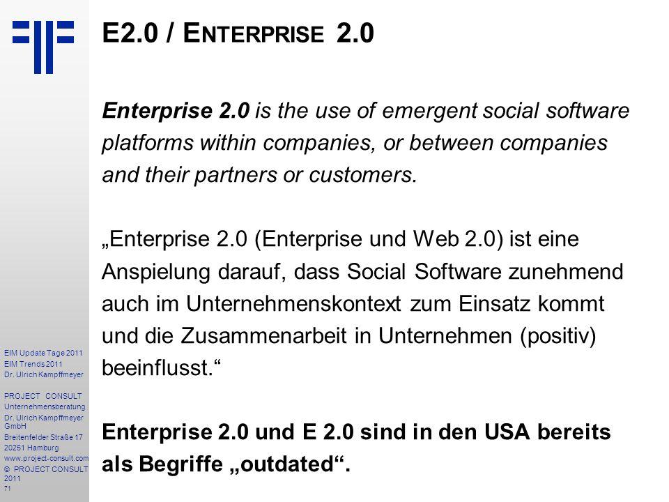 E2.0 / Enterprise 2.0