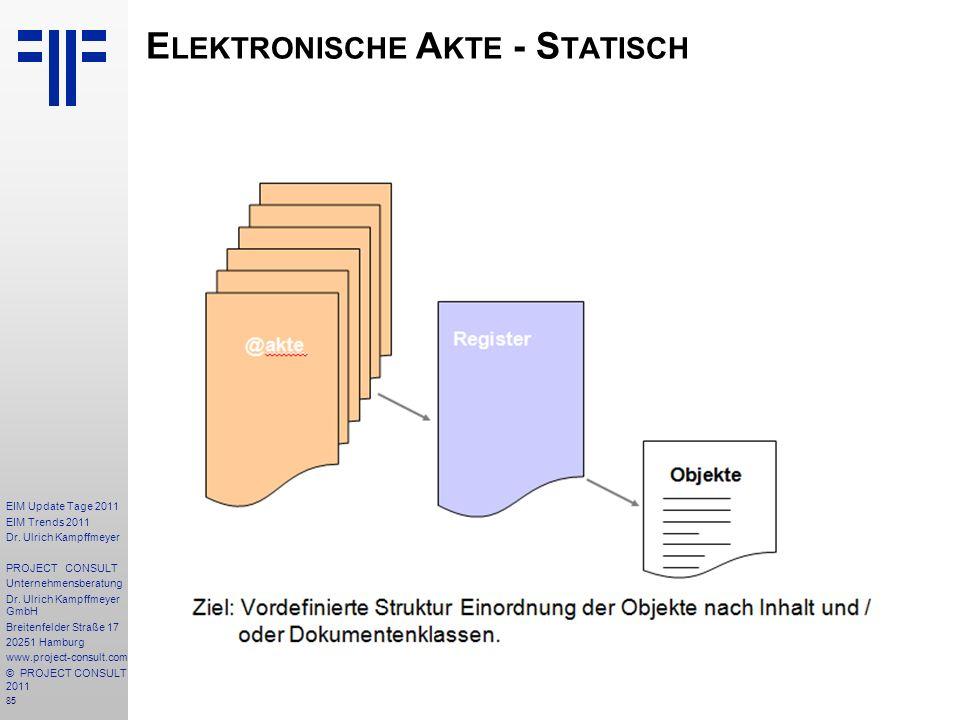 Elektronische Akte - Statisch