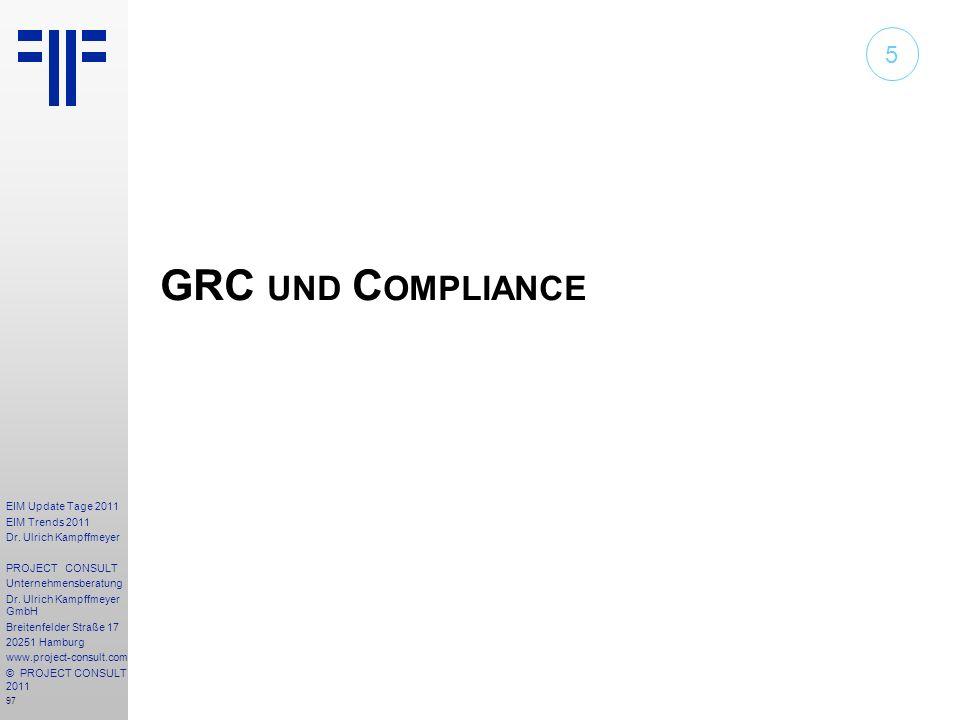 5 GRC und Compliance