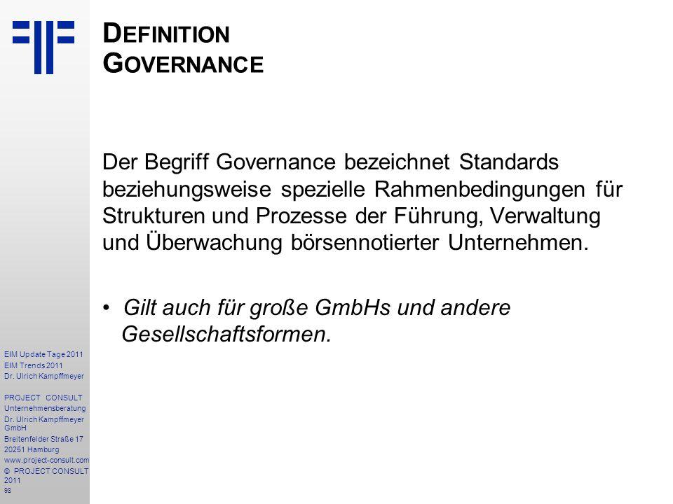 Definition Governance
