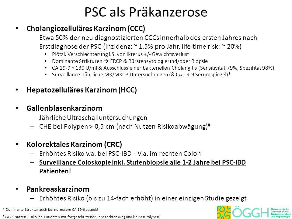 PSC als Präkanzerose Cholangiozelluläres Karzinom (CCC)