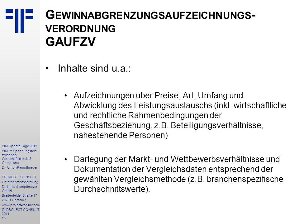 Gewinnabgrenzungsaufzeichnungs-verordnung GAUFZV