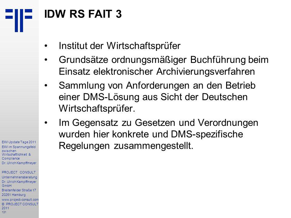 IDW RS FAIT 3 Institut der Wirtschaftsprüfer