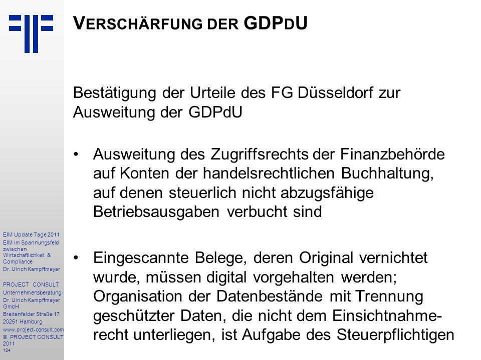 Verschärfung der GDPdU