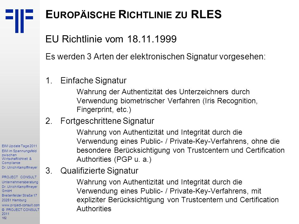 Europäische Richtlinie zu RLES
