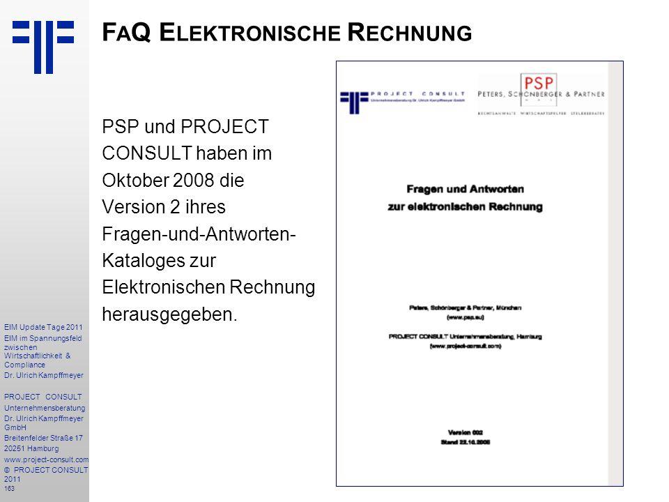 FaQ Elektronische Rechnung