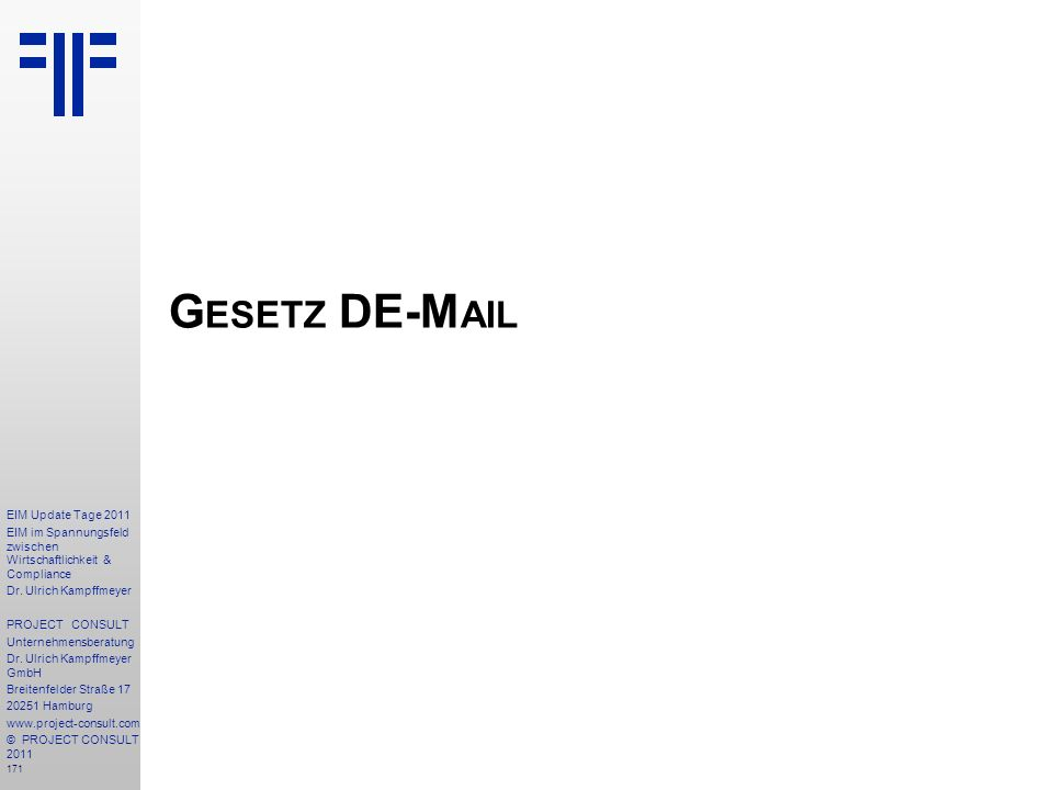 Gesetz DE-Mail