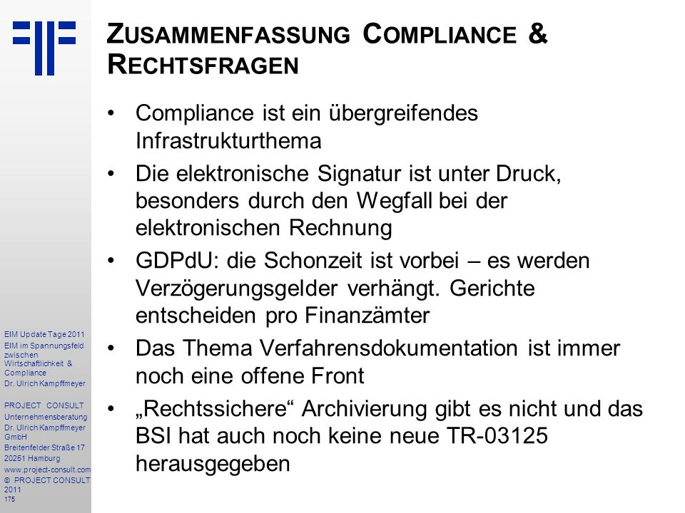 Zusammenfassung Compliance & Rechtsfragen