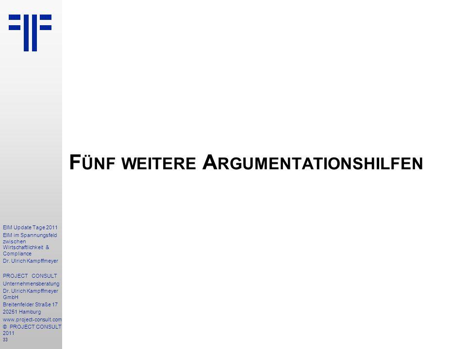 Fünf weitere Argumentationshilfen